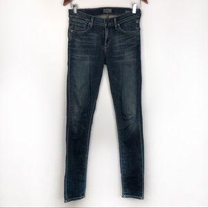 AGOLDE Colette Dark Wash Skinny Jeans (26)